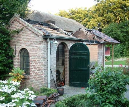 Renovatie bijgebouw na brand