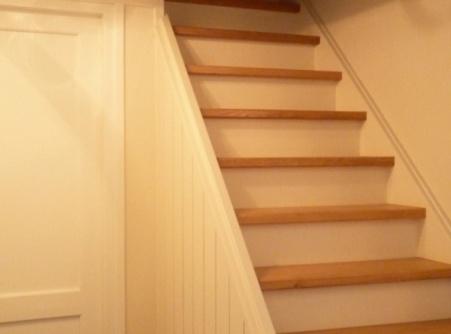 Machinale houtbewerking van dichte trap